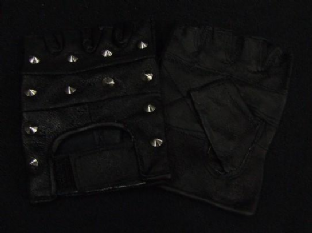 Leather Stud Fingerless Gloves (Choose From 4 Colours)